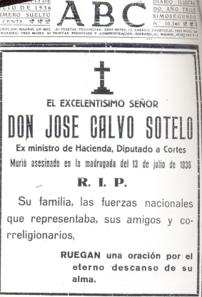Image result for jose calvo sotelo  asesinado