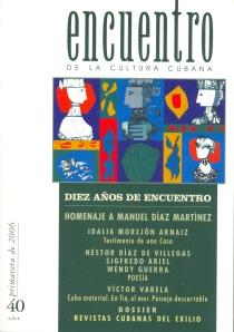 Portada e ilustraciones interiores de CB. Encuentro de la Cultura Cubana. Nº 40, 2006.