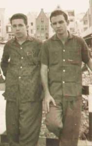 Severo y yo. Curaçao, 1959.