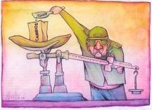 Raúl caricatura