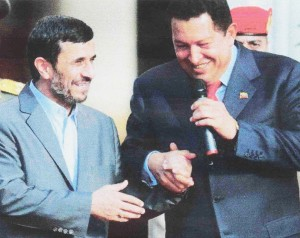 Con Ahmadineyad.