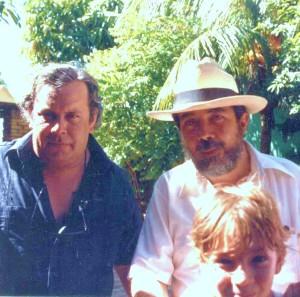 Raúl Rivero y yo (con sombrero) en Maracaibo, Venezuela, en 1986.