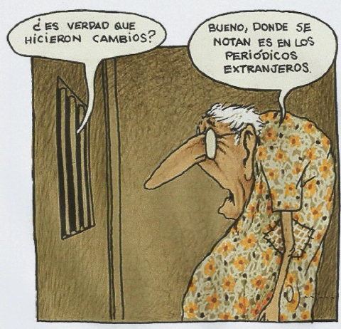 HUMOR CUBANO. Caricatura de Omar Santana.