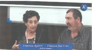 Francisca Aguirre y Francisco José Cruz durante el acto.