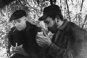 Castro y Matthews en la Sierra Maestra.